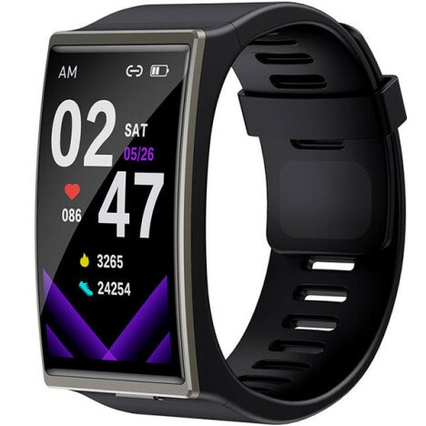 Smartwatch iUni DM12, Touchscreen, Monitorizare Puls, Somn, Sedentarism, Notificari